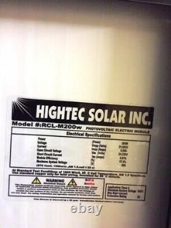 1- 200 Watt 12 Volt Battery Charger Solar Panel Off Grid RV Boat black on black