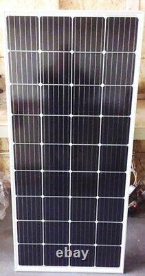 1- 210 Watt 12 Volt Battery Charger Solar Panel Off Grid RV Boat 210 watt total