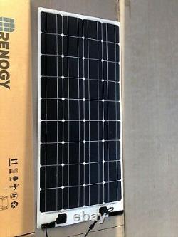 100 WATT 12 VOLT FLEXIBLE MONOCRYSTALLINE SOLAR PANEL X 2 units