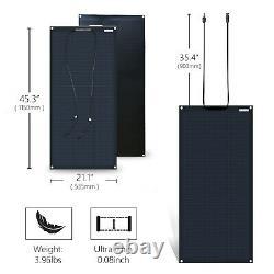 100 Watt 12V Volt Flexible Solar Panel Ultra-Light RV Marine Boat Battery Charge