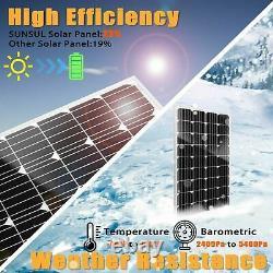 100W 100 Watt Monocrystalline Solar Panel 12V Home Battery Charger RV Marine Car