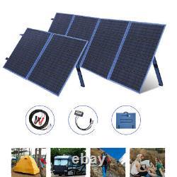 100W 200W 300W Watt Foldable Portable Solar Panel Kit RV Camping Battery Charger