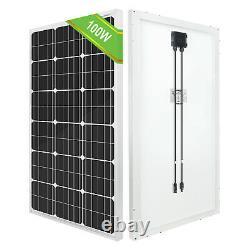 100W 200W Watt Solar Panel Kit 12Volt Battery Charge Controller RV Camper Boat