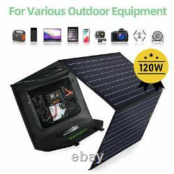 100W Watt 12V Foldable Portable Solar Panel Kit For Power Station, Battery Charge