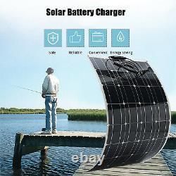 100W Watt Solar Panel Kit 12V Battery Flexible Charge For RV Camping Waterproof