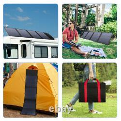 100w Watt Foldable Portable Solar Panel Kit Camping Battery Charge Power station