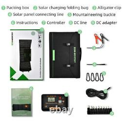 120 Watt 12V Foldable Solar Panel Kit For Power Station, Battery Charge Laptop