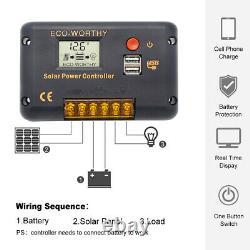 120W 12V WATT Foldable Solar Panel Kit High Efficiency Monocrystalline Camping