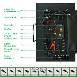 120W Watt 12V Foldable Portable Solar Panel Kit For Power Station, Battery Charge