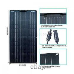 12V 200W Solar Panel 200 Watt Flexible Monocrystalline Camping RV Marine Car DHL