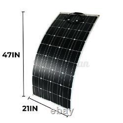 12V 300W Watt Solar Panel Kit Mono for Camping Caravan Boat RV Van 1030670cm