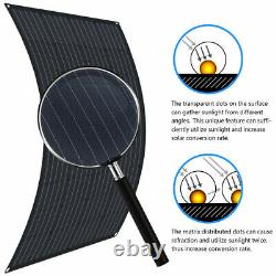 130W Watt 12 Volt Flexible Mono Solar Panel Battery Charging For RV Boat Camping