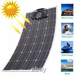 2-150Watt 18Volt Solar Panel 300W 18V Off Grid Power Charge RV Boat Home Garden