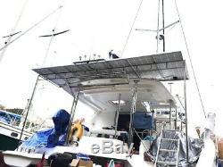 2- 200 Watt 12 Volt Battery Charger Solar Panel Off Grid RV Boat 400 watt total