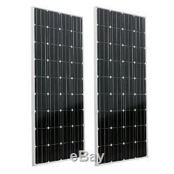 2-200Watt 12Volt Solar Panel 400W 12V Off Grid Power Charge RV Boat Home Garden