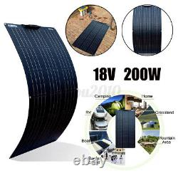 200 Watt Solar Panel Flexible Module Monocrystalline 12V For Camping RV Marine
