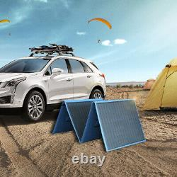 200W Watt Portable Foldable Solar Panel Kit Home Battery Charger RV Camping Boat