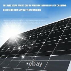 200Watt 200W Solar Panel Kit with Solar Charge Controller 12V/24V RV Boat Off Grid