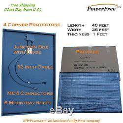 200w 200 Watt 2 100w Solar Panel Plug-n-Power Space Flex Kit for 12v Battery
