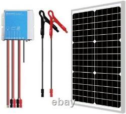 30 Watt 12VDC Solar Panel + PWM 10 Amp 12VDC Smart Charging Controller Regulator
