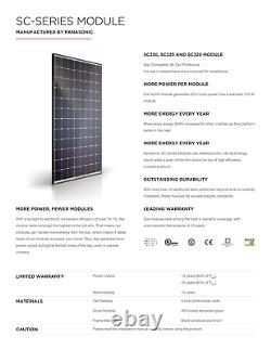 320 Watt Panasonic Solar Panel-PALLET OF 25- Model SC320 Power 8KW-96Cell Panel