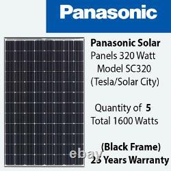 320 Watt Panasonic Solar Panels -Qty of 5- Model SC320 Power 1.6 KW