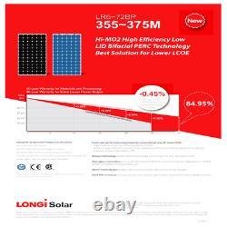 360 Watt Longi Solar Panels-LR6-72BP-360M Pallet of 26-Total Power 9.36 KW