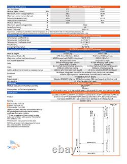 370 Watt Silfab Solar Panels SIL 370 BK- Pallet of 15 Total Power 5.55 KW