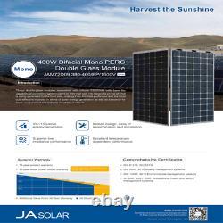380 Watt JA Solar Panel JAM72D09-380/BP Bifacial- Pallet of 34 Power 12.9 KW