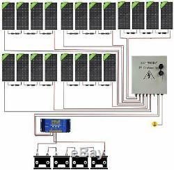 3900W Watt 20-195W Solar Panel System Off Grid 48V For Home Shed Garden Farm