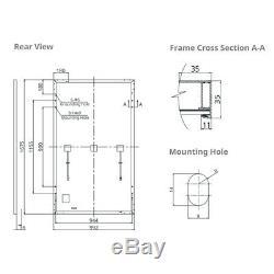 4 PCS Renogy 320W 300W Watts Mono Solar Panel 1200W 24V 48V PV Power Home Cabin