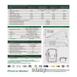 400 Watt Phono Solar Panel -PS400M1H-24/TH Pallet of 20 Total Power 8 KW