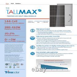 400 Watt Trina Solar Panels -Model TSM-400DE15H(II)- Pallet of 25- Power 10 KW