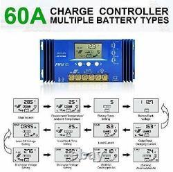 4000W Watt 20-195W Solar Panel System Off Grid 48V For Home Shed Garden Farm