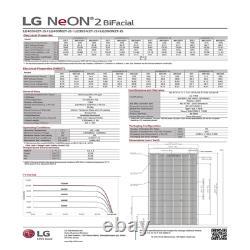 405 W LG solar panel LG405N2T-J5 Bifacial-Pallet of 10-Total Power 4050 Watts