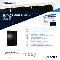 420 Watt Q Cell MONO DUO CELL SOLAR PANEL G8.2 Pallet of 10 Power 4200 Watts