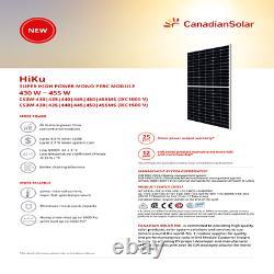 440 Watt Canadian Solar Panels Model CS3W-440MS Pallet of 10 4.40 KW