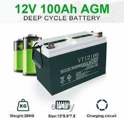 4KW Watt 48V Off Grid Solar Panel System20-195W Solar Panel For Home Garden US