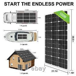 600W 800W 1200W Watt Solar Panel Kit 3KW 24V Solar Charger Inverter UPS Power