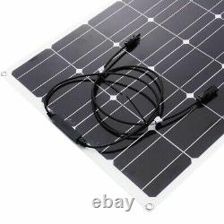 800With400W Watt Flexible Camping Car Solar Panel Kit 18V Power RV Battery Charger