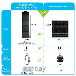 ACOPOWER HY-4x12.5W 12V 50 Watt Foldable Solar Panel Kit With 5A Charge Controller