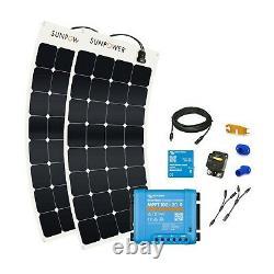 BUNDLE 2x SunPower 110 Watt Flexible Solar Panels (incl. MPPT controller etc)