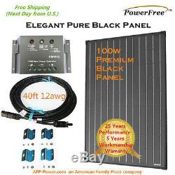 COMPLETE KIT 100w 100 Watt Photovoltaic Solar Panel for12v Battery RV Boat