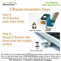 COMPLETE KIT Black Frame 100w 100 Watt Mono Solar Panel for 12v Battery RV Boat