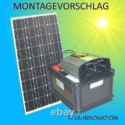 Complete 220V Solar System + Battery 200Ah 300W Panel 1000W Camping Watt Garden