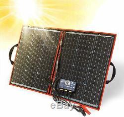 DOKIO 80 watt 12 volt Folding Solar Panel Kit for Camping (LIGHTWEIGHT 4lb)