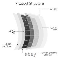 ECO 130W Watt 100W 12 Volt mono flexible solar panel for RV boat camping home