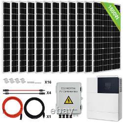 ECO 1600W 2400W 3600W Watt 24V/48V Volt Solar Panel Kit For Home RV Fifthwheel