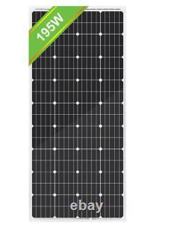 ECO-WORTHY 100W 50 Watt Monocrystalline Solar Panel 12V RV Car Boat Camping