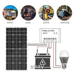 ECO-WORTHY Solar Panel 100W 195W Watt Monocrystalline 12V RV Marine Product